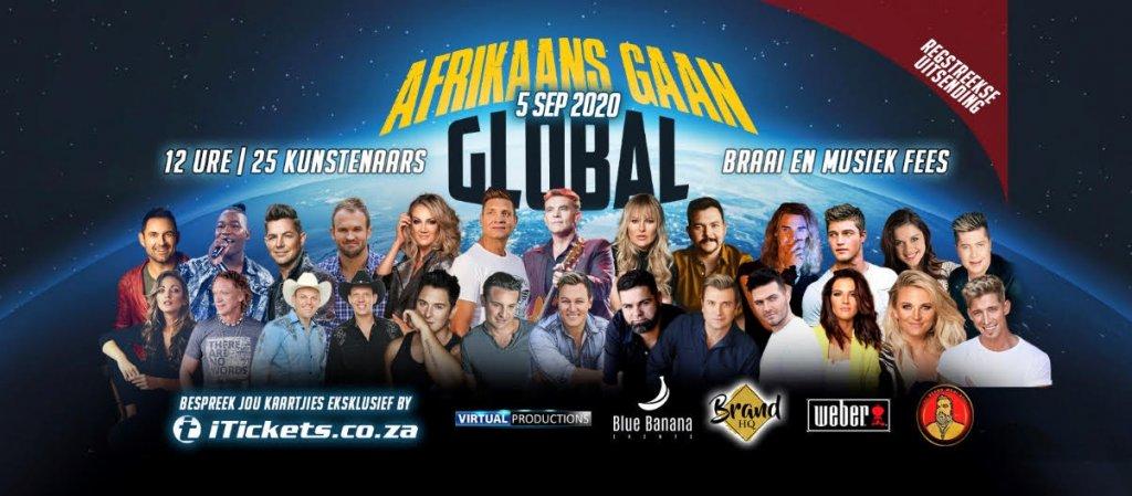 Afrikaans Gaan Global - 12 Ure 25 Kunstenaars!