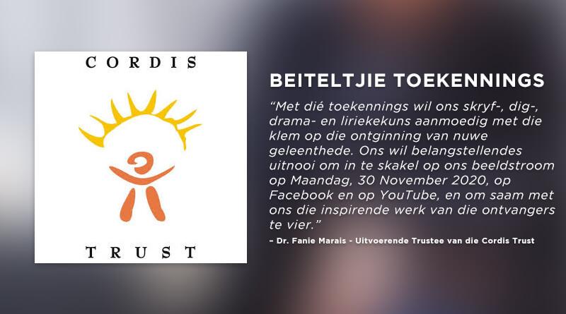 Beiteltjie Toekennings Cordis Trust Plectrum Feature